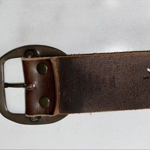 Unbranded Accessories - Floral Tooled Leather Belt - Brown